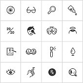 Optical & Visual Icons — Inky Series
