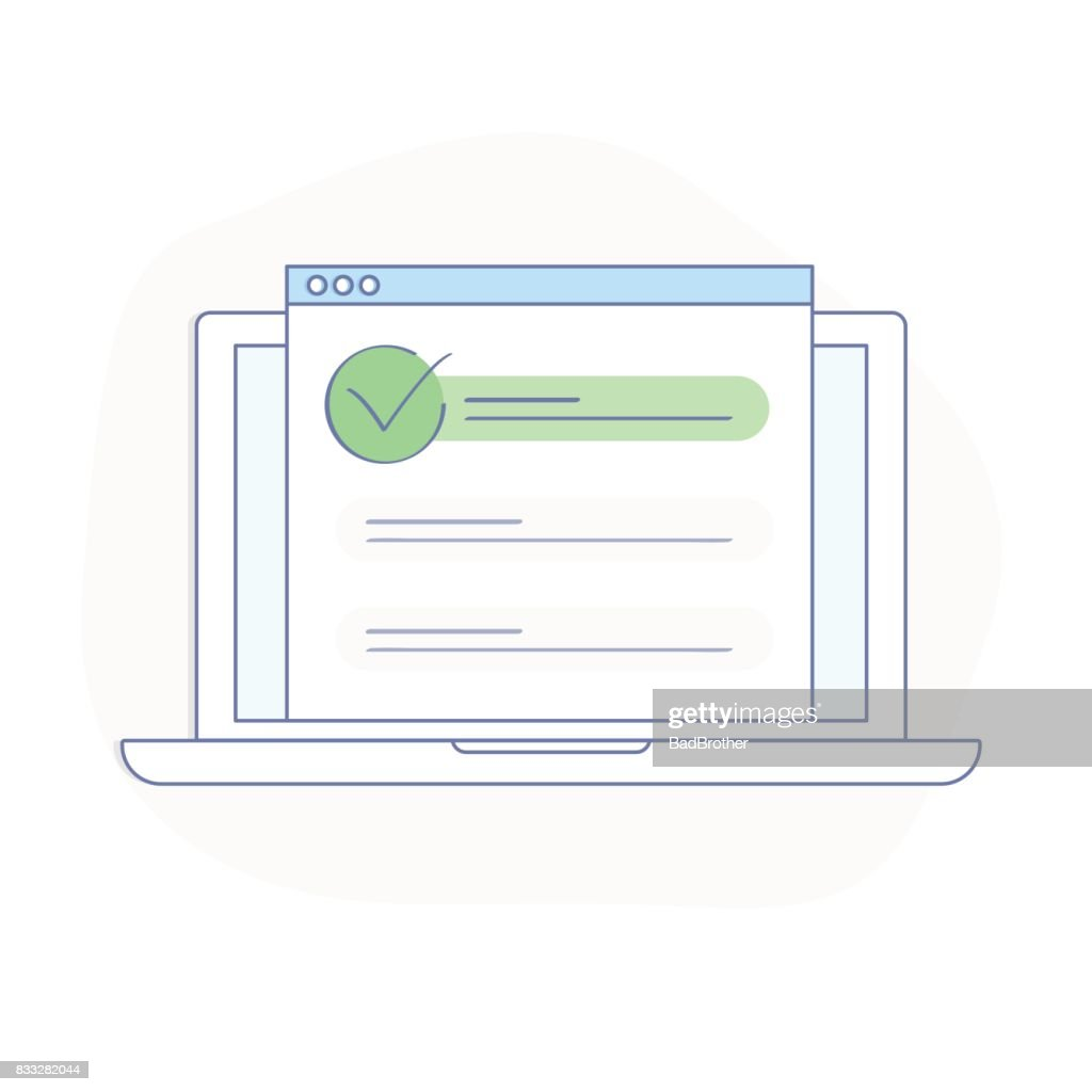 SEO optimization illustration concept, browser window and ranking sites in search results of web search engine