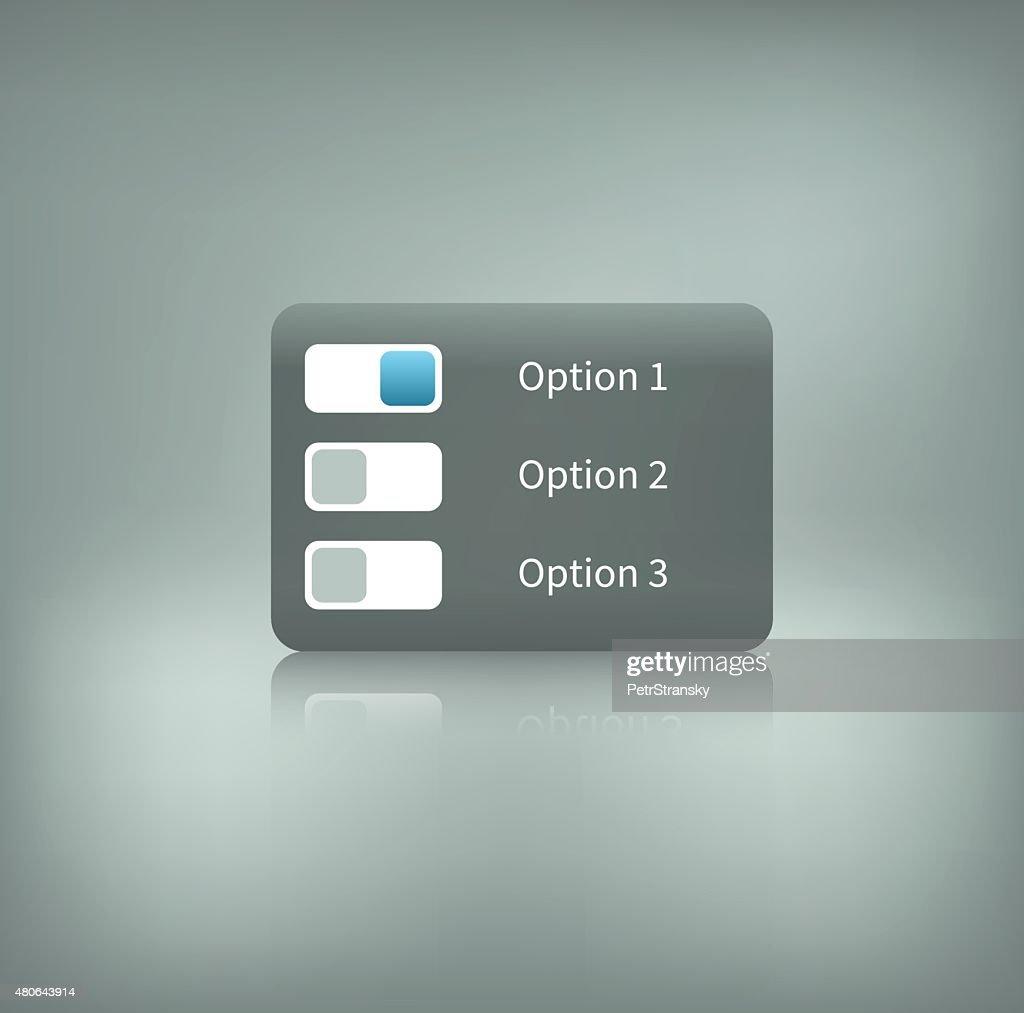 option switcher on background
