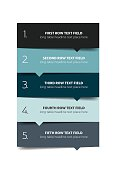 Option template, table, schedule, banner. Step by step infographic.