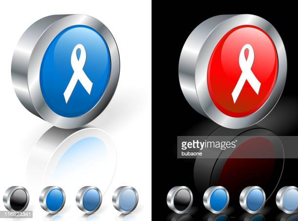 Opções de ícones de fita da SIDA em fundo branco e preto