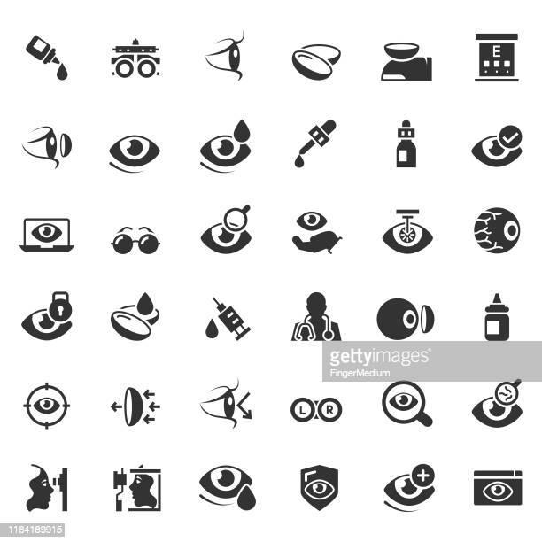 検眼アイコンセット - 検眼医点のイラスト素材/クリップアート素材/マンガ素材/アイコン素材
