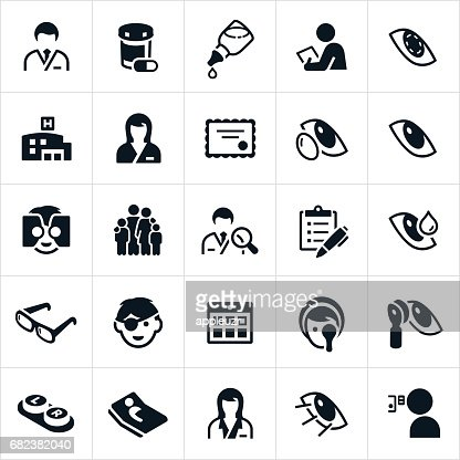 Optometry Medicine Icons Vector Art Getty Images