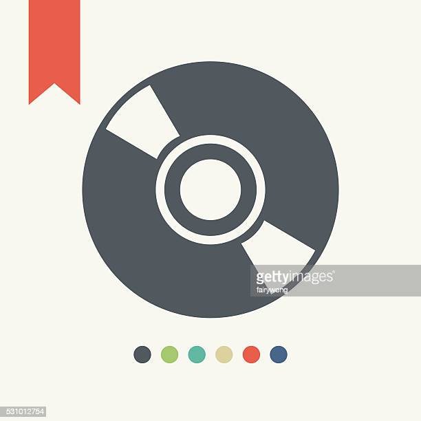 cd or dvd icon - dvd stock illustrations, clip art, cartoons, & icons
