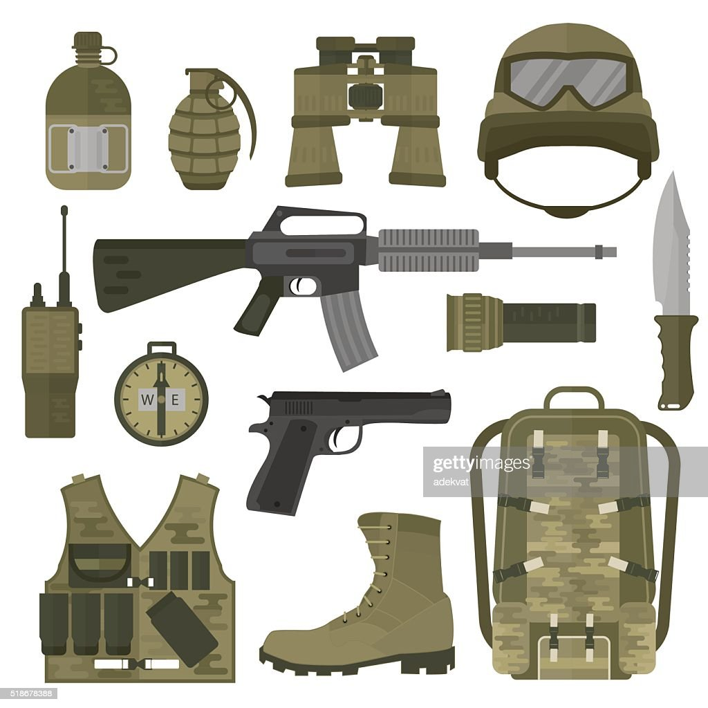 USA or NATO troop military army symbols vector illustration