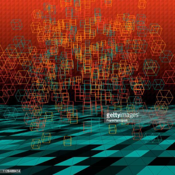 Orange abstrakte 3D-Vektor Cube