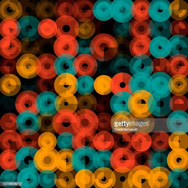 Orange Abstract Art Kreismuster