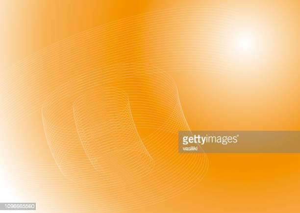 illustrations, cliparts, dessins animés et icônes de arrière-plan élégantes lignes courbes abstrait orange - fond orange