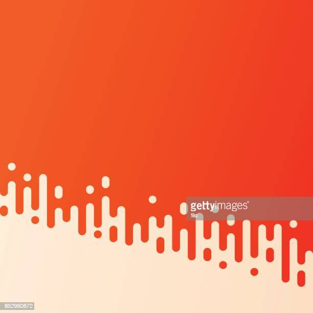 Orange Abstract Seamless Rounded Lines Halftone Transition