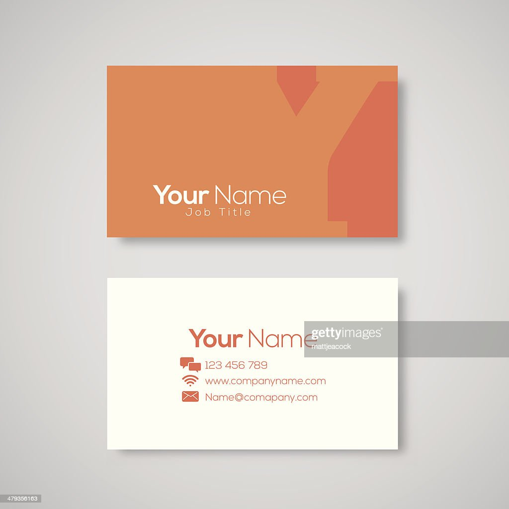 Orange And White Business Card Template Vector Art | Getty Images