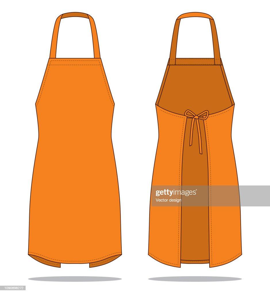 Orange Apron Vector for Template