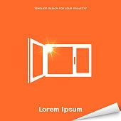 Orange banner with window icon