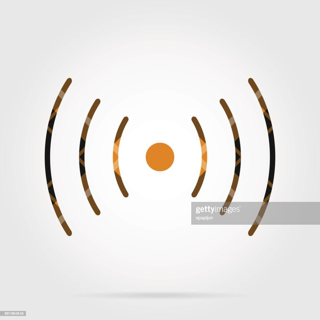 Orange Schwarze Tartan Symbol Klang Vibration Symbol Vektorgrafik ...