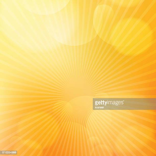 Orange bright glow background with light rays