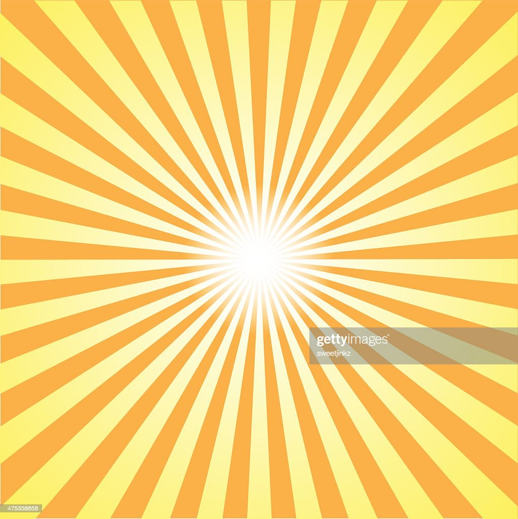 orange burst background. Vector illustration