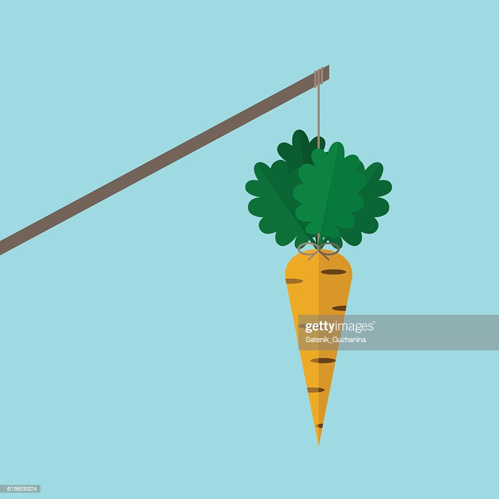Orange carrot on stick