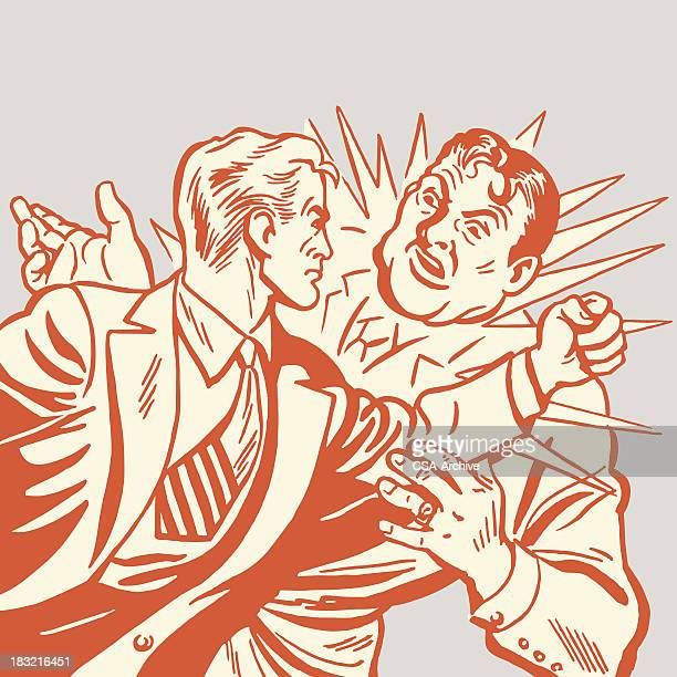 2 つの男性の拳の戦い