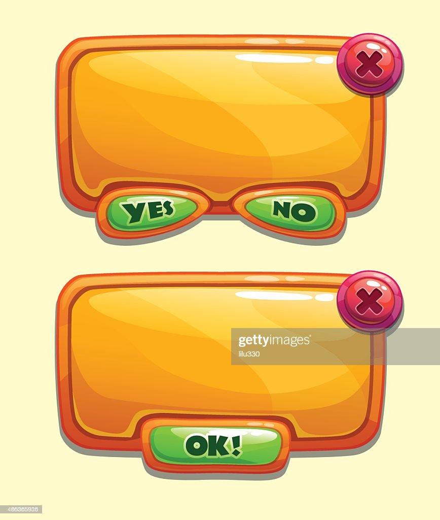 Orange cartoon panels