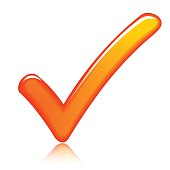 orange check mark