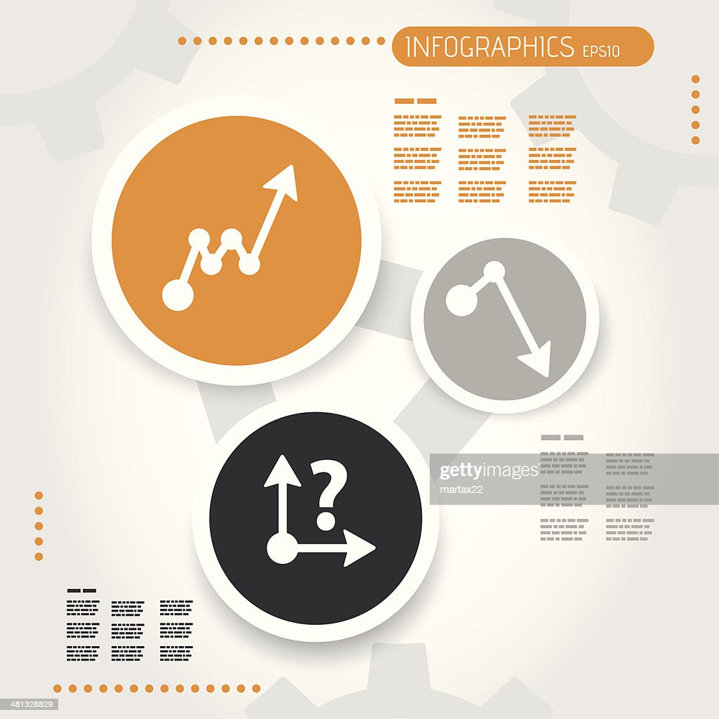orange circle infographic template with business icons