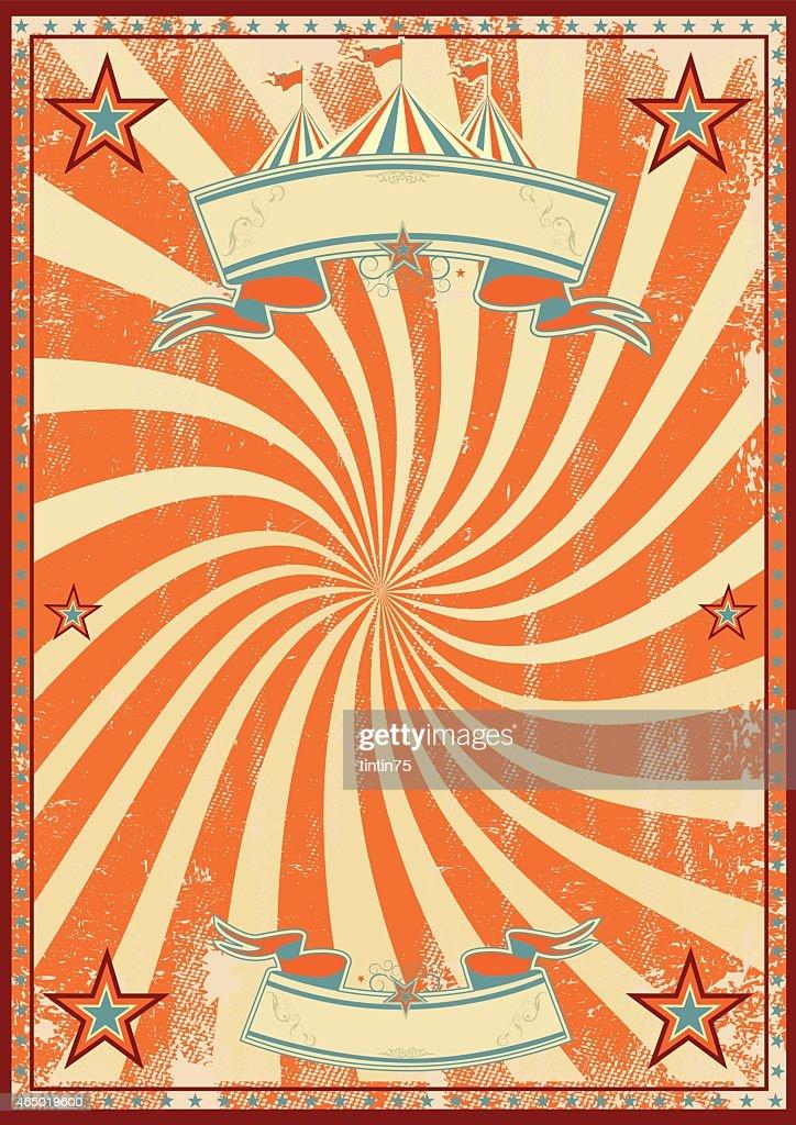 Orange circus retro