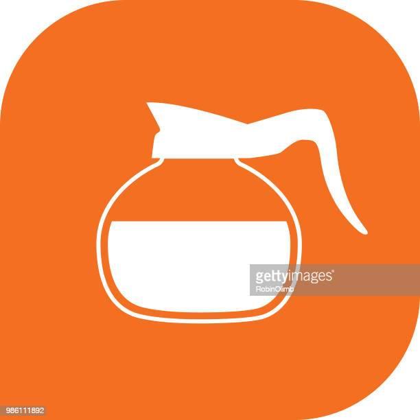 Orange Coffee Pot Icon