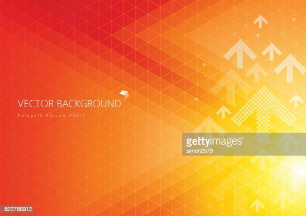 Orange color background with fading white direction arrow pattern