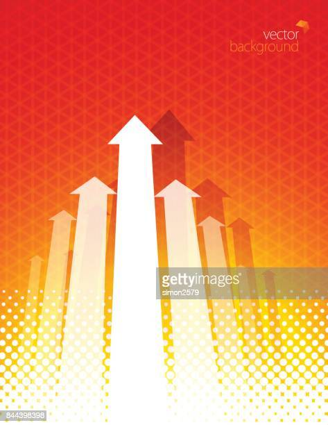 orange color background with fading white direction arrow pattern - vertical stock illustrations, clip art, cartoons, & icons