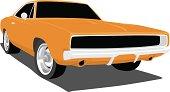 Orange Dodge Charger