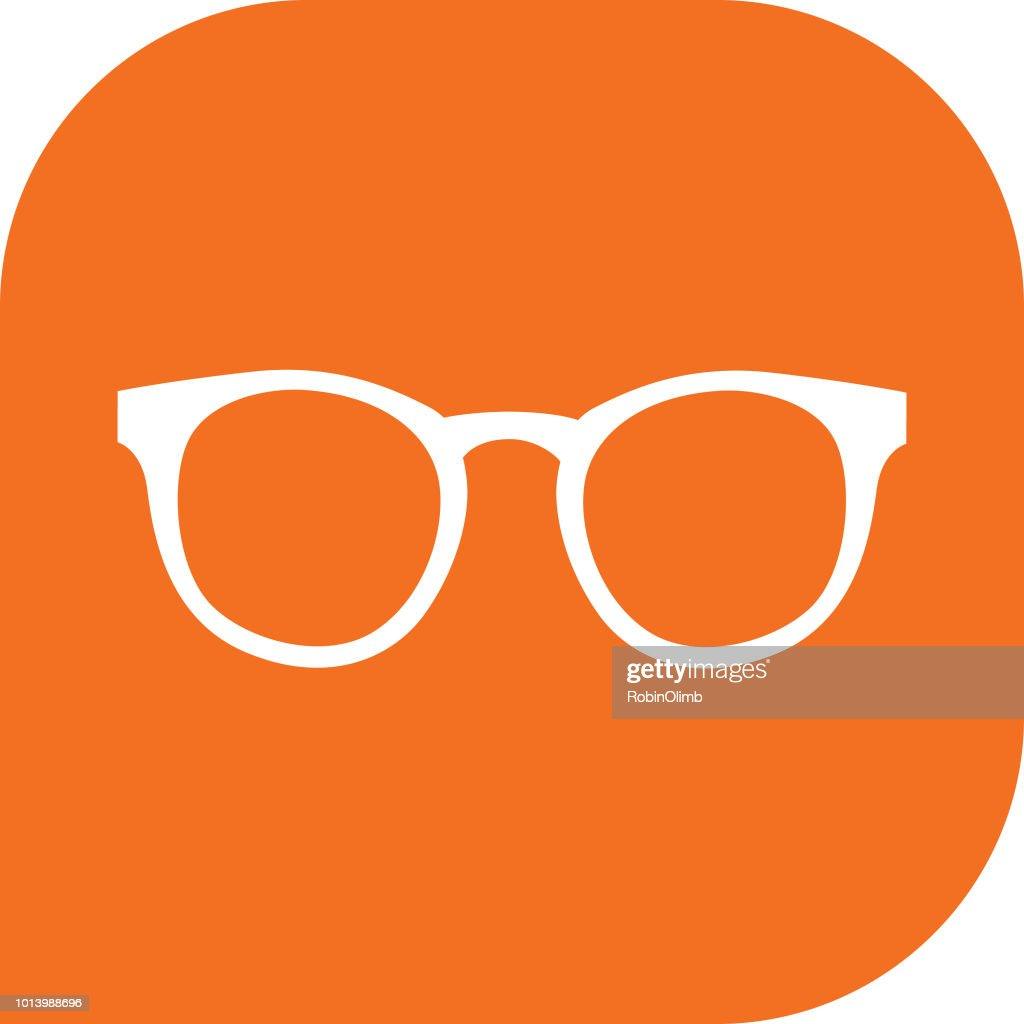 Orange Eyeglasses Icon : stock illustration