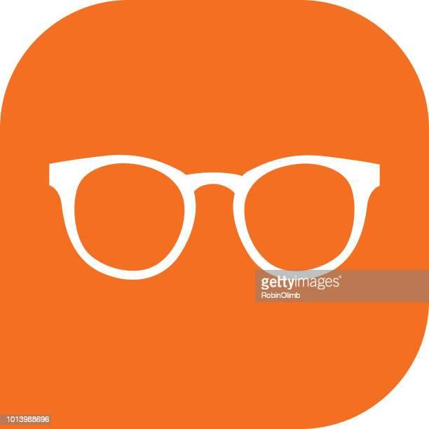 Orange Eyeglasses Icon