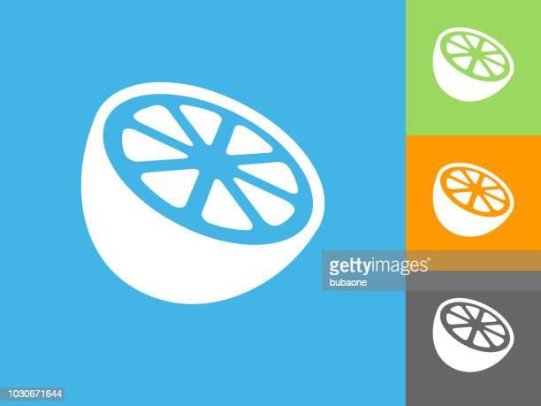 Orange  Flat Icon on Blue Background