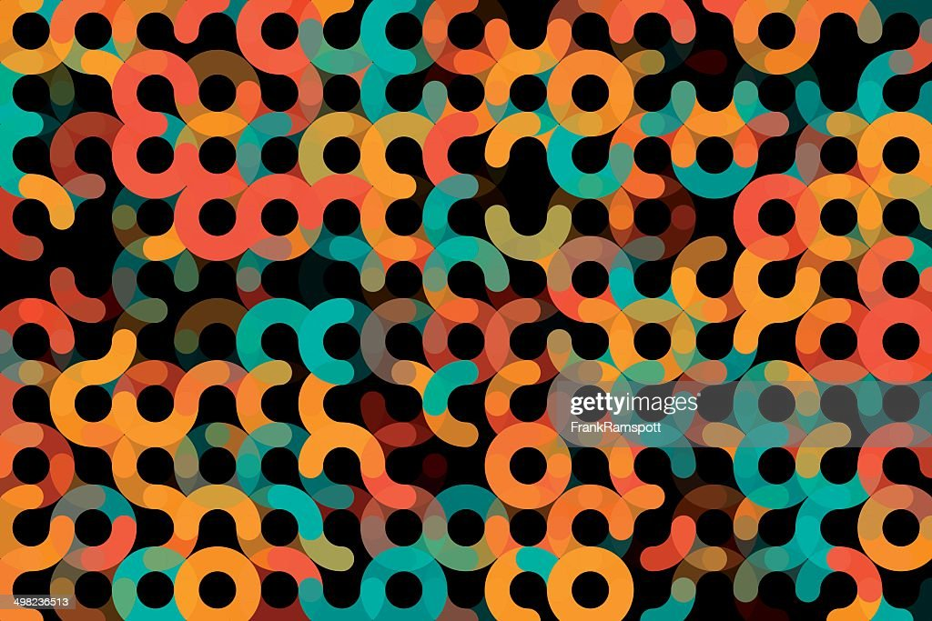 Orange Geometrische Kreis horizontales Muster : Stock-Illustration