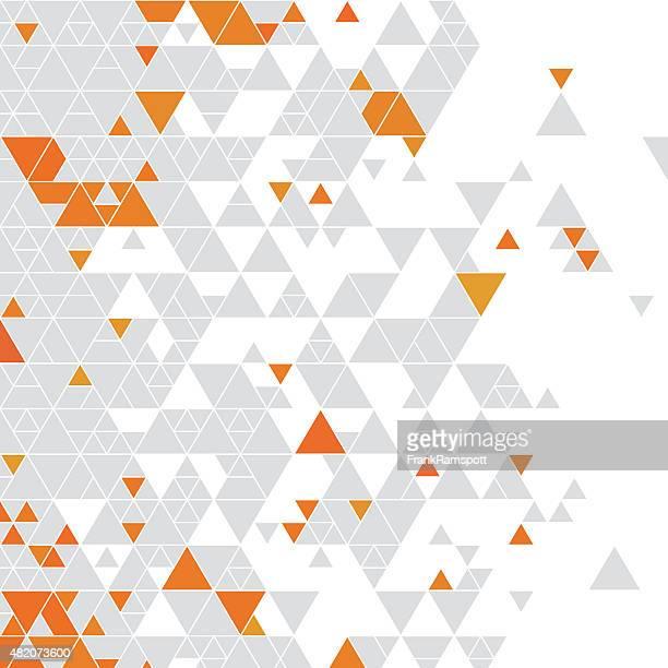 orange grau farbe dreieck muster - frankramspott stock-grafiken, -clipart, -cartoons und -symbole