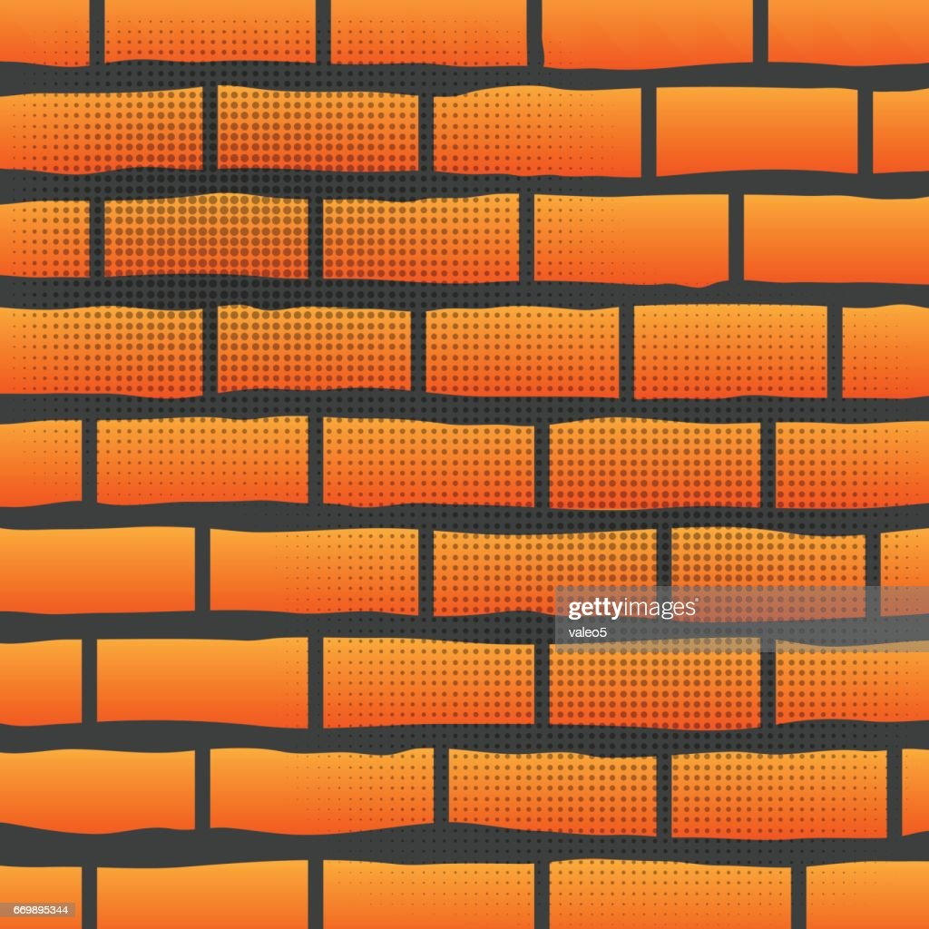Orange Grunge Brick Wall
