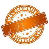 Orange guarantee stamp