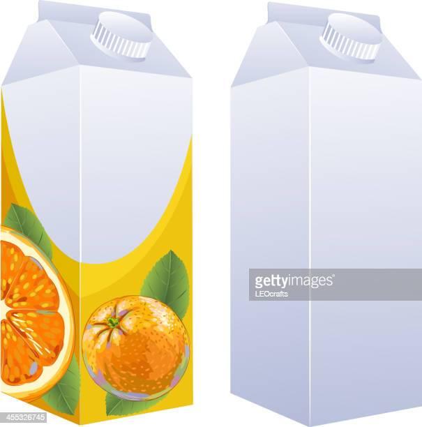 orange juice box - orange juice stock illustrations, clip art, cartoons, & icons