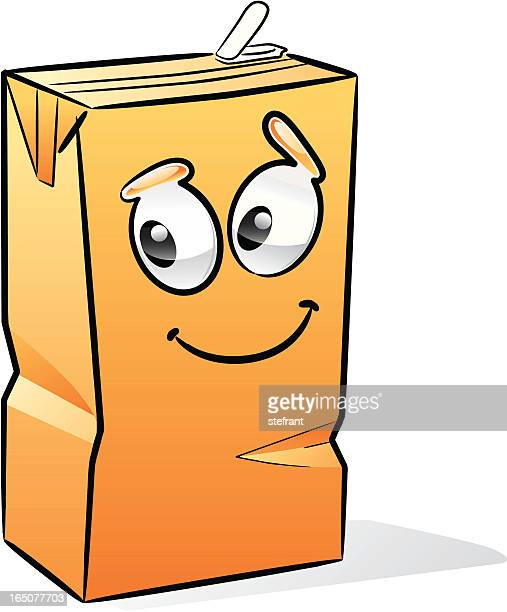 orange juice brick - fruit juice stock illustrations, clip art, cartoons, & icons