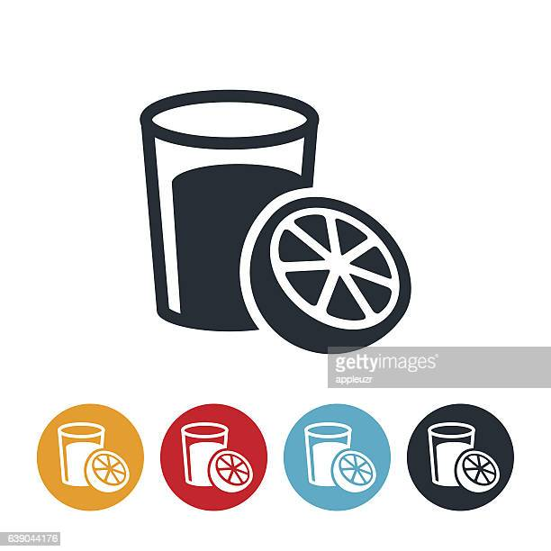 orange juice icon - fruit juice stock illustrations, clip art, cartoons, & icons