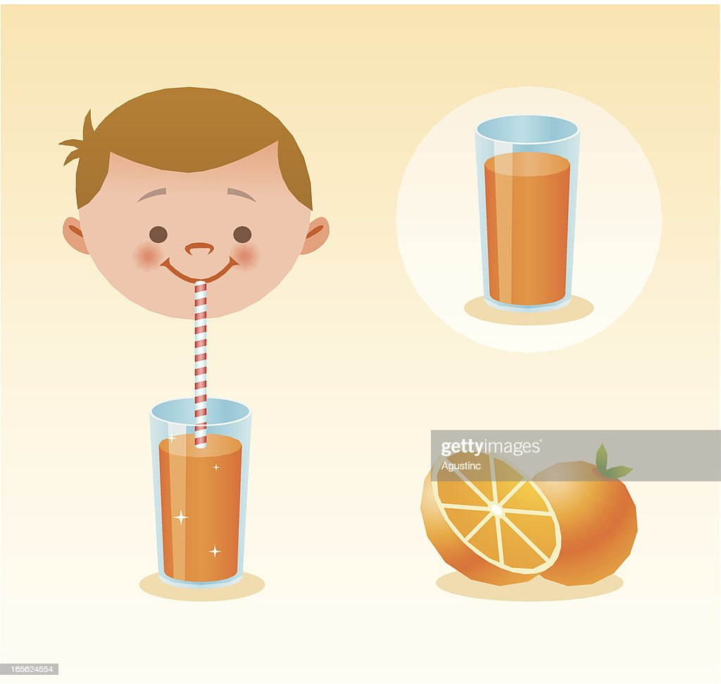 Orange juice : stock illustration