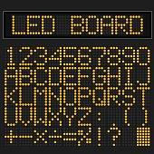 Orange LED digital font