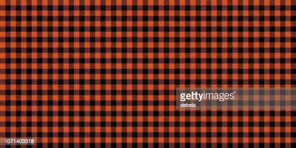 オレンジの木こりのシームレスなパターン背景 - ギンガムチェック点のイラスト素材/クリップアート素材/マンガ素材/アイコン素材