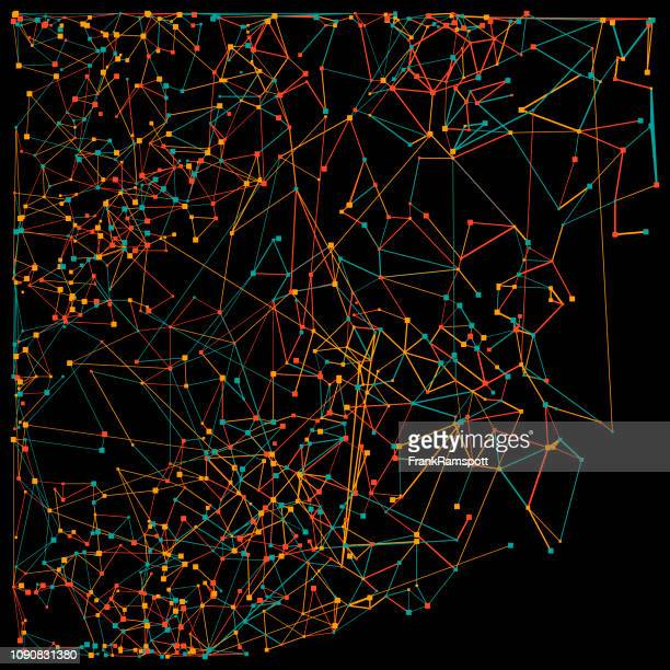 Orange neuronale Netz Vektormuster