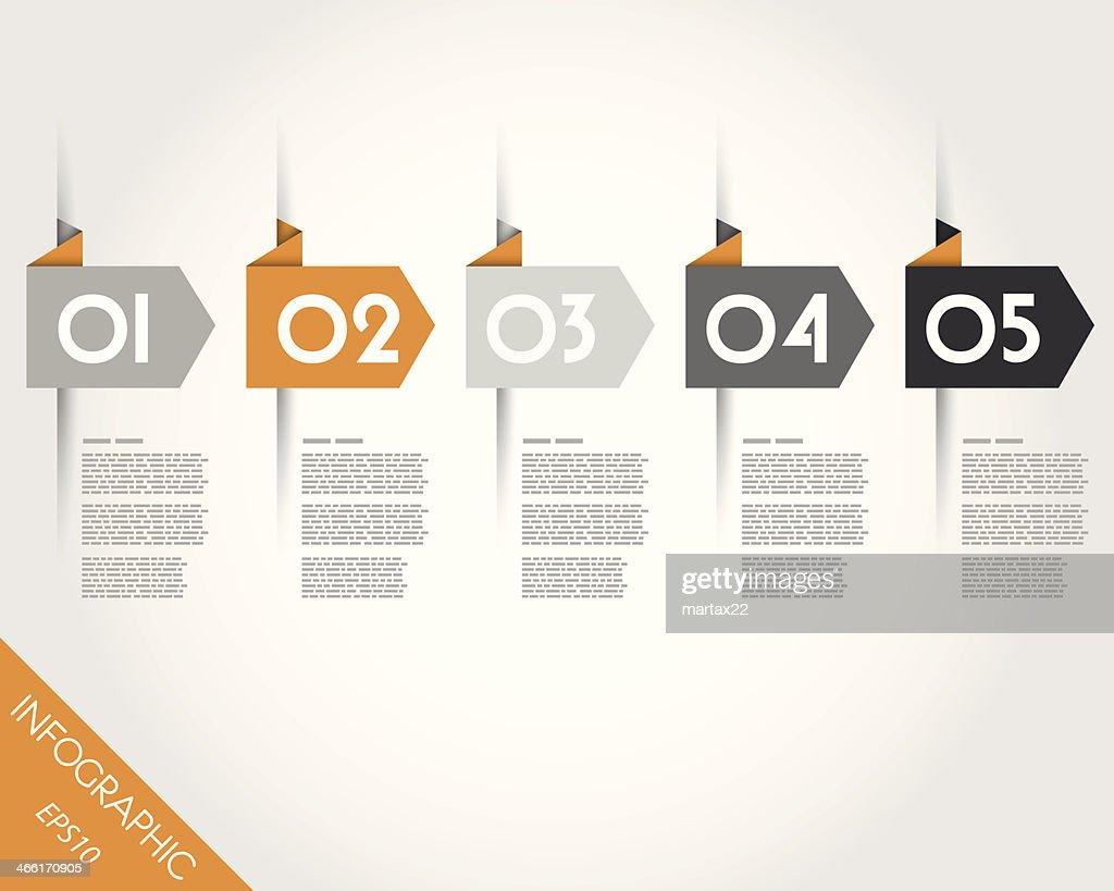orange origami arrows