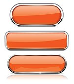 Orange oval buttons. With chrome frame