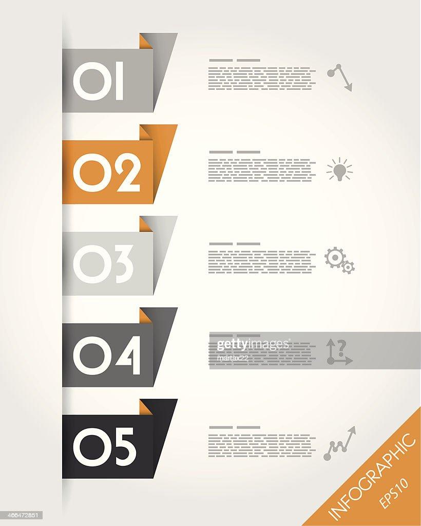 orange paper origami stickers