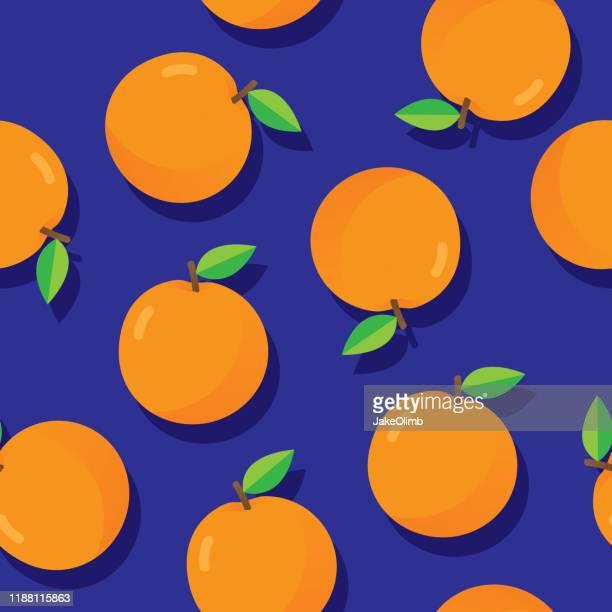 orange muster flach - orangensaft stock-grafiken, -clipart, -cartoons und -symbole