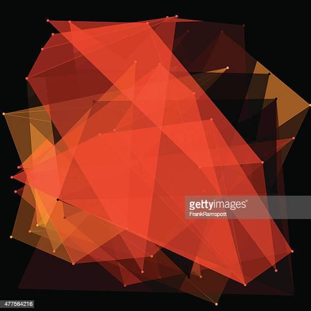 Orange Polygon Pattern