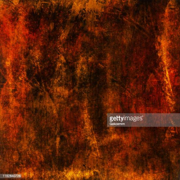 orange, red and black abstract metallic wall texture. grunge vector background. - fire natural phenomenon stock illustrations