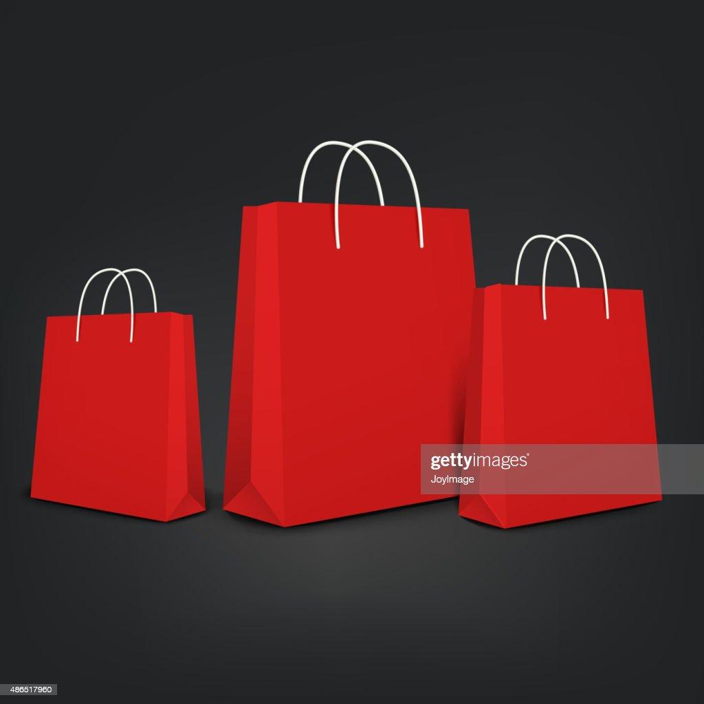 orange shopping bags set